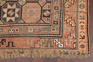 Pre1900 Antique South-west VEGETABLE DYE Kazak Caucasian Russian Runner Rug 5x10
