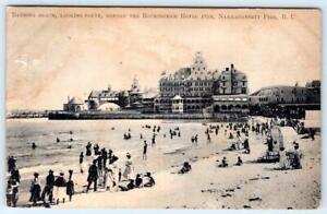 1909 NARRAGANSETT PIER RI*BEFORE THE ROCKINGHAM HOTEL FIRE*BATHING BEACH
