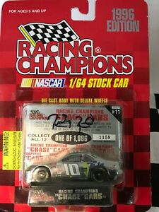 UNOPENED AUTOGRAPHED RC Chrome Chase Car 1:64 Ricky Rudd #10 Tide 1996 Ford