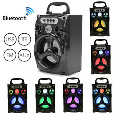 LED BLUETOOTH CASSA SPEAKER WIRELESS ALTOPARLANTE USB/TF/AUX/FM RADIO PORTATILE