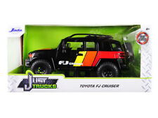 "Toyota FJ Cruiser Custom with Roof Rack Black ""Just Trucks"" 1/24 Diecast Model C"