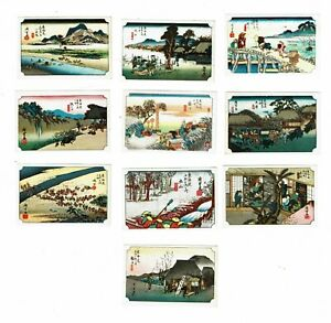 10 Old Japan c.1960s matchbox labels depicting Views of Japan.