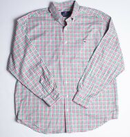 Vineyard Vines Classic Fit Tucker Shirt Plaid Size Large Red/green