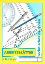 ZEICHENBLOCK / BLOCK - Technisches Zeichnen - A4 20 Bl TZ Arbeitsblätter