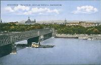 Ansichtskarte Mannheim Rheinbrücke Blick auf Schloß Jesuitenkirche 192 (Nr.9102)