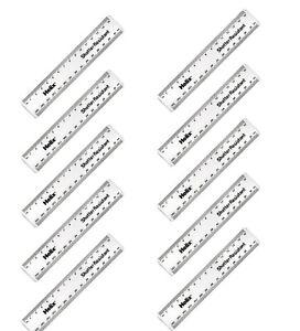 10 x 15cm HELIX Clear Rulers Shatter Resistant Plastic Centimetres & MM
