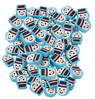 Pack of 24 - Mini Snowman Christmas Erasers - Rubbers Teacher Rewards