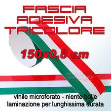 Fascia adesiva tricolore 150x0,8 cm bubblefree lunga durata