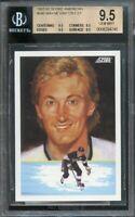 1991-92 score american #346 WAYNE GRETZKY DT kings BGS 9.5 9.5 9.5 9.5