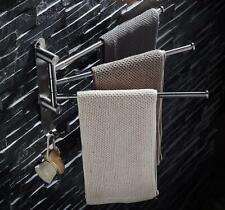 304 Bathroom Brushed Nickel Towel Bar Rack Holder Shelf Stand Accessories Toilet