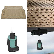 Trunk Cargo Liner Mat for Car SUV Van Sedan All Weather Tan w/ Air Freshener