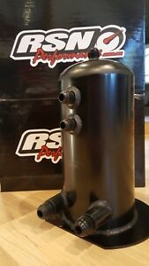 RSN Performance  Fabricated Aluminium 2.5lt Surge tank in Black