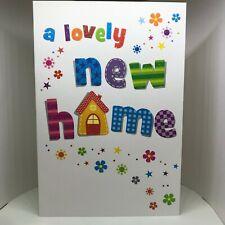 New Home card. A lovely new home card. Full colour inside. Flitter effect finish