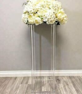 Rectangle Acrylic Wedding Flower Stand for Table Centerpiece Decoration-80CM