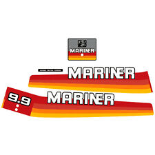 Mariner 9.9 outboard (1978-1983) decal aufkleber adesivo sticker set