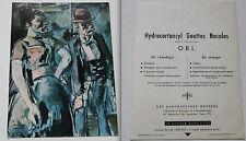 Gravure impression labo pharma carte env 1960 Le couple par G Rouault 1971-1958
