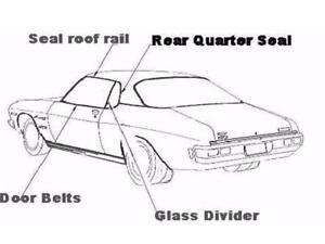 Seal Glass Divider Mazda 929/RXA 74/79 Left Hand # RGDSL6A