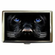 Black Panther Stainless Cigarette Money Card Case Box