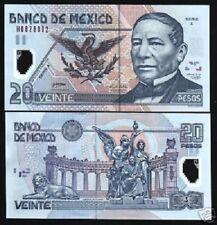 MEXICO 20 PESOS P116 2005 LOT LION SNAKE *POLYMER UNC X 10 PCS NOTE ANIMAL MONEY