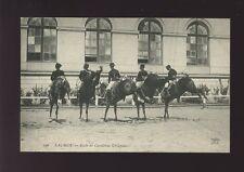 Animals HORSES France Saumur Ecole de Cavalerie Croupades c1920/30s? PPC