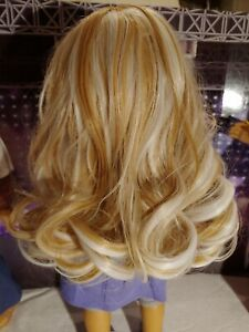 "WIG 11""NEW Designer - Golden & Platinum Blond OOAK for American Girl Doll"