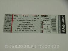 PUSCIFER Entire Unused Concert Ticket Stub Orpheum Theatre Los Angeles 12/6/2011