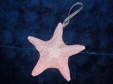 ONE (1) CHRISTMAS PINK & PURPLE STARFISH  ORNAMENTS CORAL SEA SHELL  BEACH DECOR