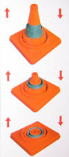 "18"" Collapsible Safety Emergency Traffic Cone w/ Light"