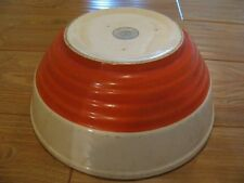 RARE HUGE EARLY TWO TONE UNIVERSAL POTTERIES RIBBED BOWL