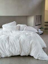 new quilt cover drift by linen house cotton chenille white queen chic soft decor