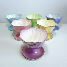 More details for complete set of 6 lustre harlequin bowls by maling, circa 1950s