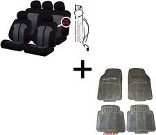 KNIGHTSBRIDGE STYLISH UNIVERSAL CAR SEAT COVERS PROTECTORS+ MATCHING RUBBER MATS