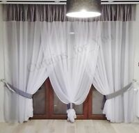 HAND MADE HIGH QUALITY VOILE NET CURTAINS FOR YOU 9 COLOURS AVAILABLE 7 LENGTHS