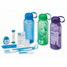 Dr Fresh Orthodontic Dental Travel Bottle Kit - Proxy Brush Wax Floss Timer