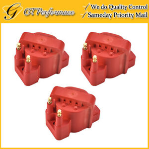 Performance Ignition Coil 3PCS for Buick Cadillac Chevrolet Isuzu Pontiac, Red
