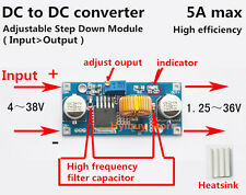 DC Reducer 4-38V to 5V 9V 12V 24V 5A Buck Step-down Converter Voltage Regulator