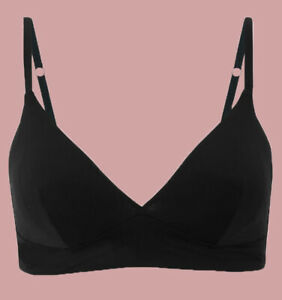 Ex M*S Black Body Smoothing Non-Wired Plunge Bra with Racer Back Option A-E