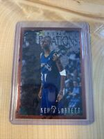 Kevin Garnett 1996-97 Topps Finest Foundations 2nd Year!! W/ Protective Peel!