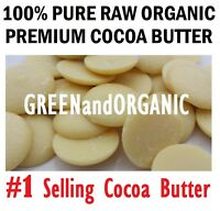 100%Raw Unrefined COCOA BUTTER Wafer Disc Pure Prime Pressed Natural Quality16oz