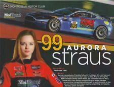 2018 Aurora Straus Automatic Racing Aston Martin Vantage IMSA CTSC postcard