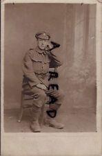 WW1 Soldier Loyals Loyal North Lancashire Regiment France Gor Blimey Trench Cap