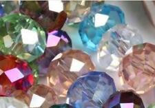 6x8 mm,Multicolore Transparent ,naturel facetté cristal , perles lâches , 68 pcs