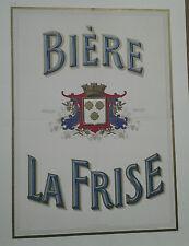 AFFICHE PUB  ANCIENNE BIERE DE LA FRISE GRENOBLE ISERE