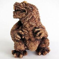 Toho monster Netsuke Godzilla (Vs version) With Box & Wooden tags Free Shipping