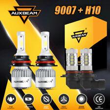 AUXBEAM 9007+H10 LED Headlight Bulb Kit 6000K Combo 9145 Fog Lights & Hi-Lo Beam