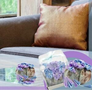 Celebrity Natural Air Purifying Bamboo Charcoal Bag Air Freshener (Round) Purple