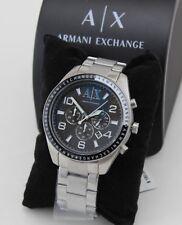 NEW AUTHENTIC ARMANI EXCHANGE SILVER BLACK CHRONOGRAPH MEN'S AX1254 WATCH