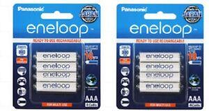 Eneloop AAA NiMH Rechargeable Batteries x 8 - AUSTRALIAN STOCK - MADE IN JAPAN
