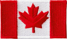 22164 Medium Canadian Flag Canada Northern Maple Leaf Embroidered Iron On Patch