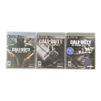 Playstation 3 PS3 Video Game Lot Bundle Call of Duty Black Ops II Ghosts